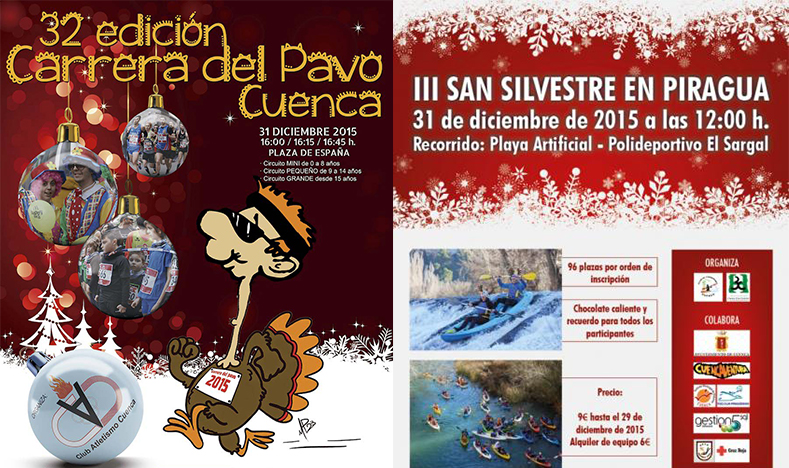 Carrera del Pavo y San Silvestre en Piragua