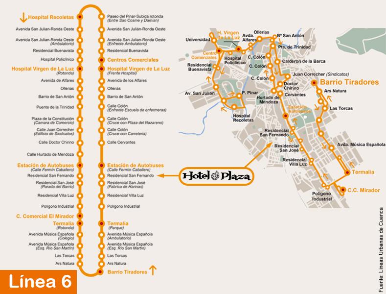 Linea6-cuenca-hotel