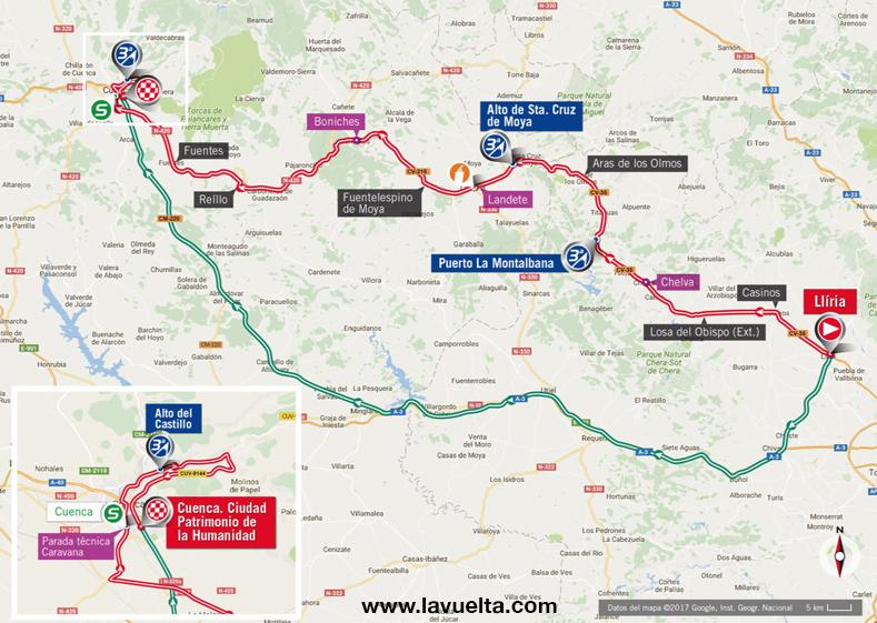 Vuelta ciclista a España Cuenca - Lliria